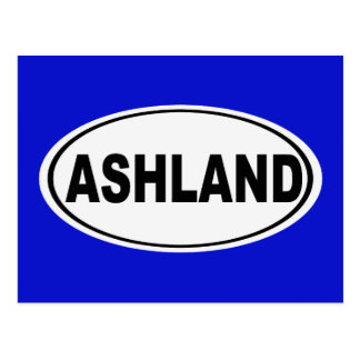Ashland Oregon oder Ohio Postkarte