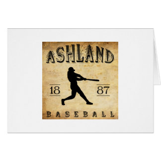 Ashland Pennsylvania Baseball 1887 Karte