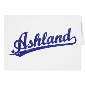 Ashland Skriptlogo im Blau Karte