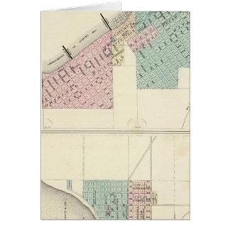 Ashland und Menomonie, WIS Karte