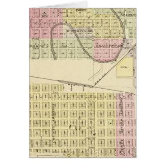 Ashland und Wahoo, Nebraska Karte