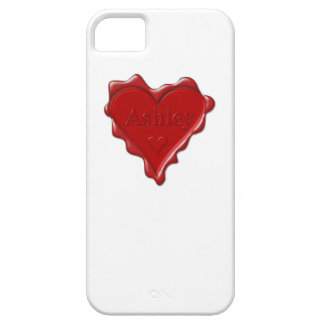Ashley. Rotes Herzwachs-Siegel mit NamensAshley iPhone 5 Cover