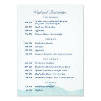 Nolans Hochzeits Zeitplan 1