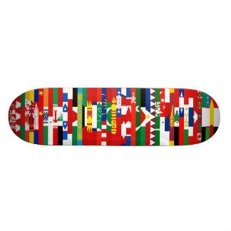 Asiat kennzeichnet Skateboard Individuelle Skatedecks