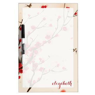 Asiatische Art-Malerei, Pflaumen-Blüte im Frühjahr Memoboard