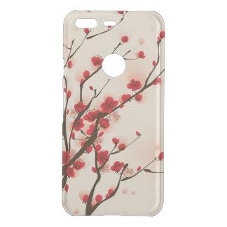 Asiatische Art-Malerei-Pflaumen-Blüte im Frühjahr Uncommon Google Pixel Hülle