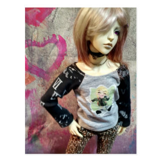 Asiatische durch Gelenk verbundene Puppe, Dollzone Postkarte
