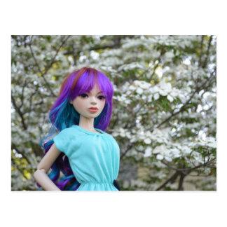 Asiatische durch Gelenk verbundene Puppe Mirodoll Postkarte