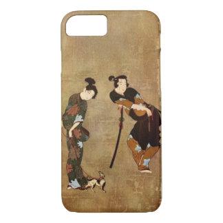 Asiatische Kunst - Paar mit kleinem Dog, 1913 iPhone 8/7 Hülle