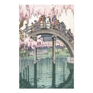 Asiatische Kunst-Vintages orientalisches Briefpapier