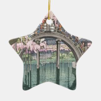 Asiatische Kunst-Vintages orientalisches Keramik Ornament