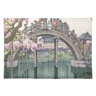 Asiatische Kunst-Vintages orientalisches Stofftischset