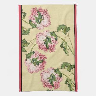 Asiatische Pfingstrosen-Blumen-Blumenküchen-Tuch Küchentuch