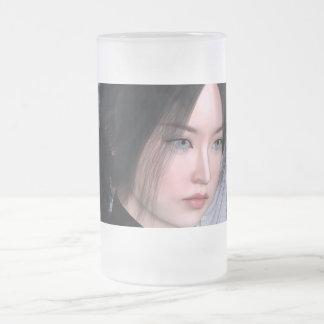 Asiatische Schönheit Mattglas Bierglas