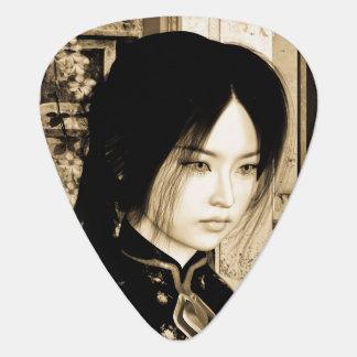 Asiatische Schönheit Plektron