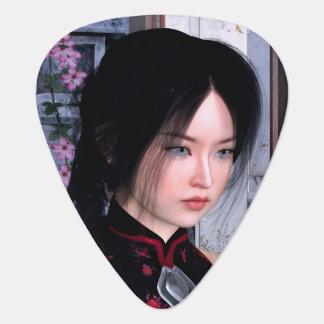Asiatische Schönheit Plektrum