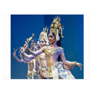 Asiatische Tänzer Postkarte