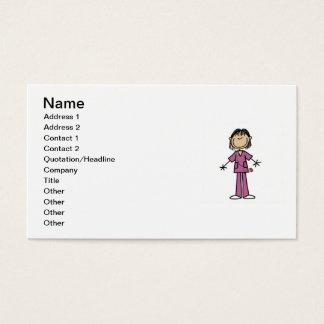 Asiatische weibliche visitenkarte