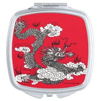 Asiatischer Drache Taschenspiegel