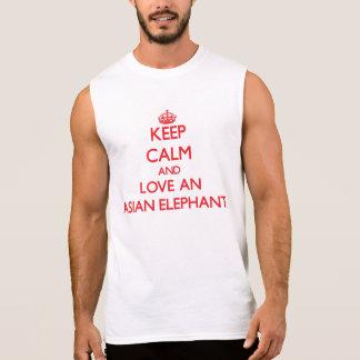 Asiatischer Elefant Ärmelloses Shirt