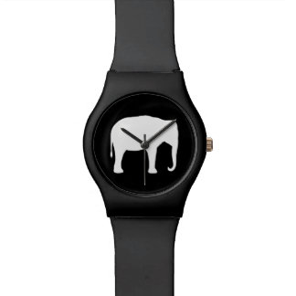Asiatischer Elefant-Silhouette Armbanduhr