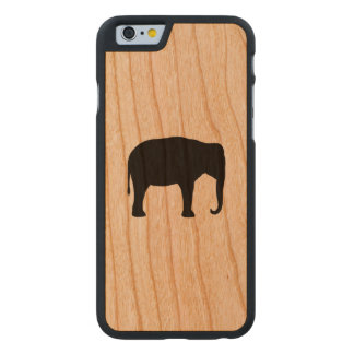 Asiatischer Elefant-Silhouette Carved® iPhone 6 Hülle Kirsche