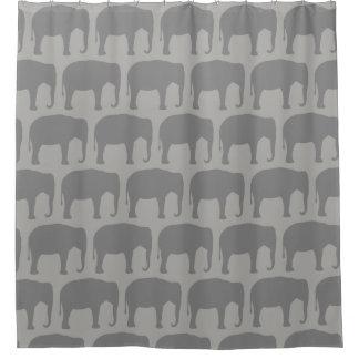 Asiatischer Elefant-Silhouette-Muster Duschvorhang