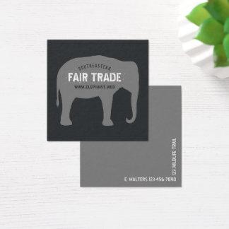 Asiatischer Elefant-Silhouette Quadratische Visitenkarte