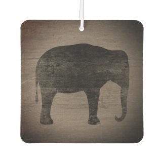 Asiatischer Elefant-Silhouette-rustikale Art Lufterfrischer