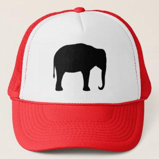 Asiatischer Elefant-Silhouette Truckerkappe
