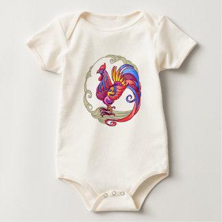 Asiatischer Hahn Baby Strampler