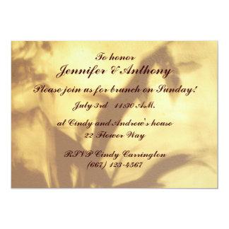 Asiatischer Motiv-Hochzeits-Brunch 12,7 X 17,8 Cm Einladungskarte