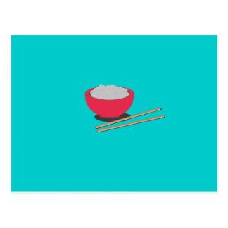 Asiatischer Reis Postkarte