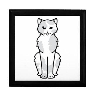 Asiatischer Selbst-u. Tortie Katzen-Cartoon Geschenkbox