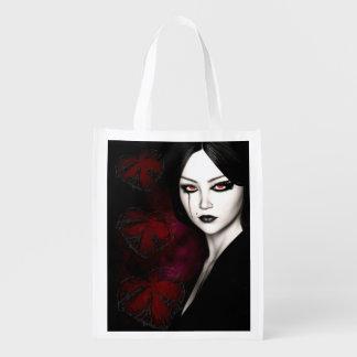 Asiatisches gotisches wiederverwendbare einkaufstasche