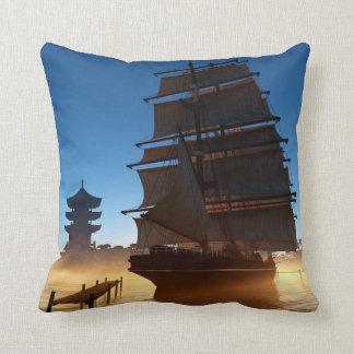 Asiatisches hohes Schiffs-Wurfs-Kissen Kissen