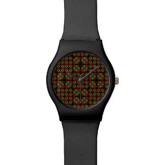 Asiatisches verziertes Patchwork-Muster Armbanduhr