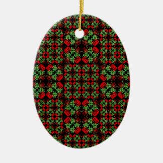 Asiatisches verziertes Patchwork-Muster Keramik Ornament