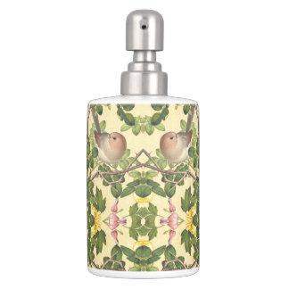Asiatisches Vogel-Rosen-Herz-Blumen-Bad-Set Badezimmer-Set