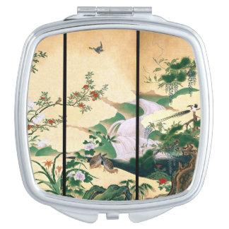 Asiats-Tauben-Vogelwisteria-Blumen-kompakter Taschenspiegel