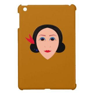 Asien-Frau auf Gold iPad Mini Hülle