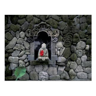 Asien, Indonesien, Bali. Ein Schrein von Buddha Postkarte