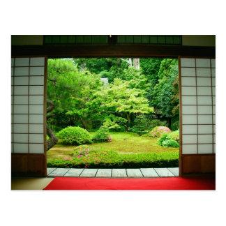 Asien, Japan, Kyoto. Zen-Garten 2 Postkarte