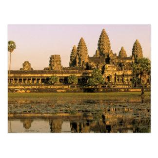 Asien, Kambodscha, Siem Reap. Angkor Wat. Postkarte