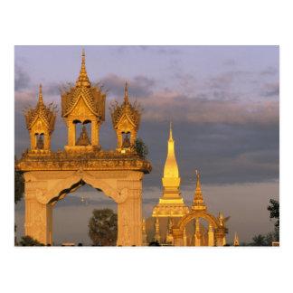 Asien, Laos, Vientiane. Dieser Luang Tempel Postkarte
