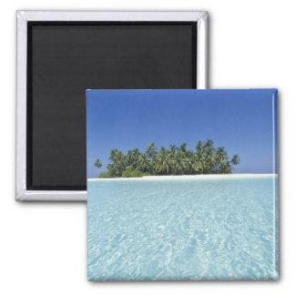 ASIEN, Malediven, Ari Atoll, unbewohnt Quadratischer Magnet