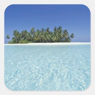 ASIEN Malediven Ari Atoll unbewohnt Sticker