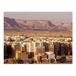 Asien, Mittlere Osten, Republik vom Jemen. Shibam Postkarte