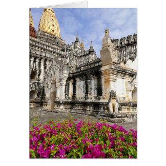 Asien, Myanmar (Birma), Bagan (Heide). Das Ananda Karte