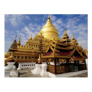 Asien, Myanmar (Birma), Bagan (Heide). Das Shwe 2 Postkarte